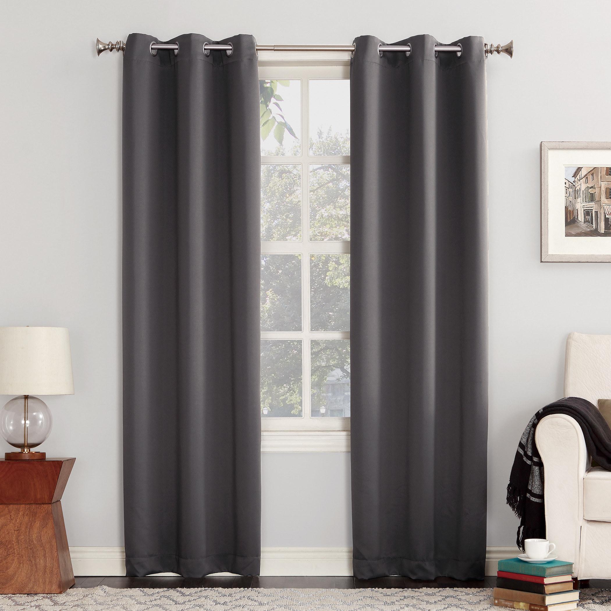 The charcoalenergy-efficient blackout grommet curtain panel