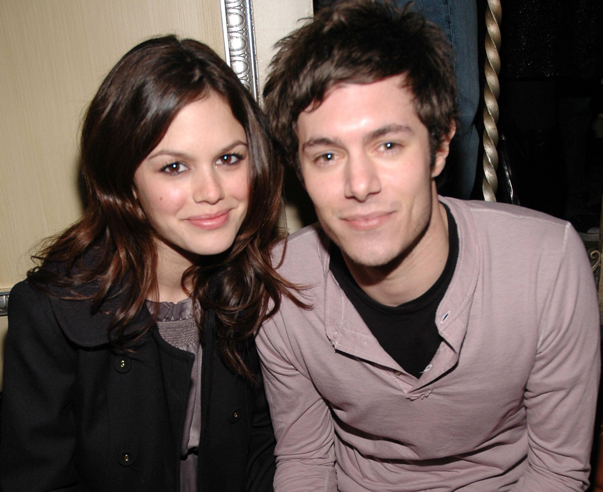 Rachel and Adam look happy together
