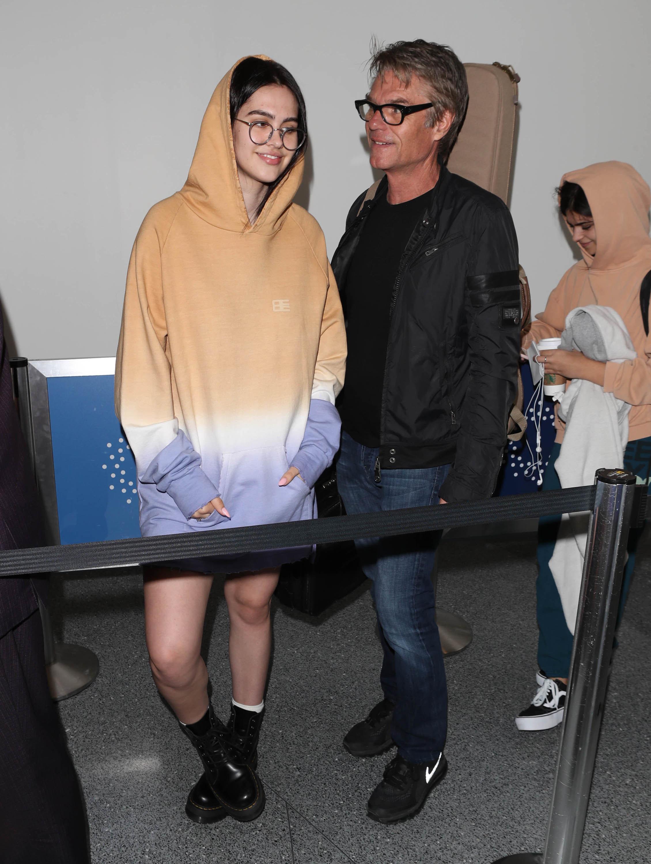 Amelia Hamlin and Harry Hamlin are seen on March 30, 2018 in Los Angeles, CA