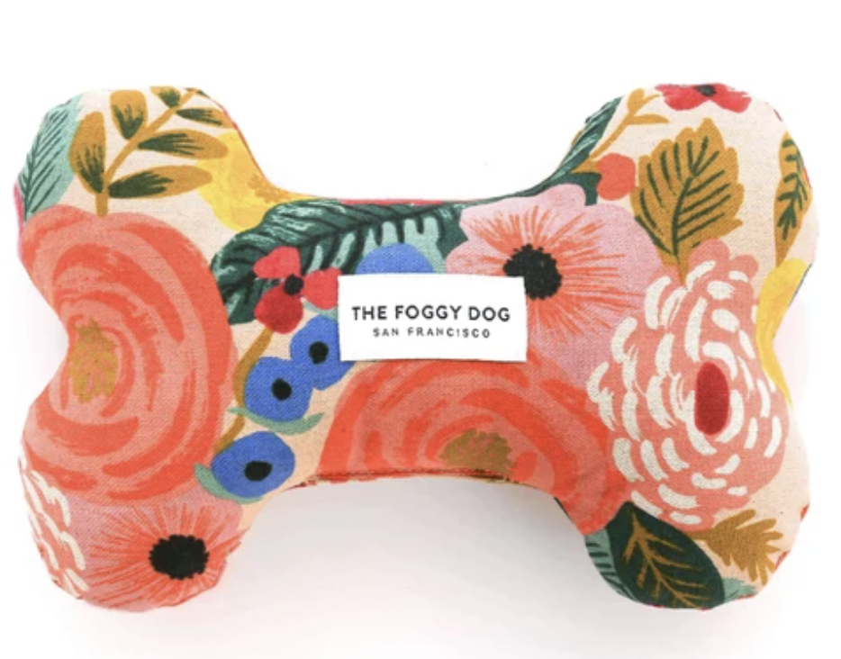 the foggy dog floral plush toy