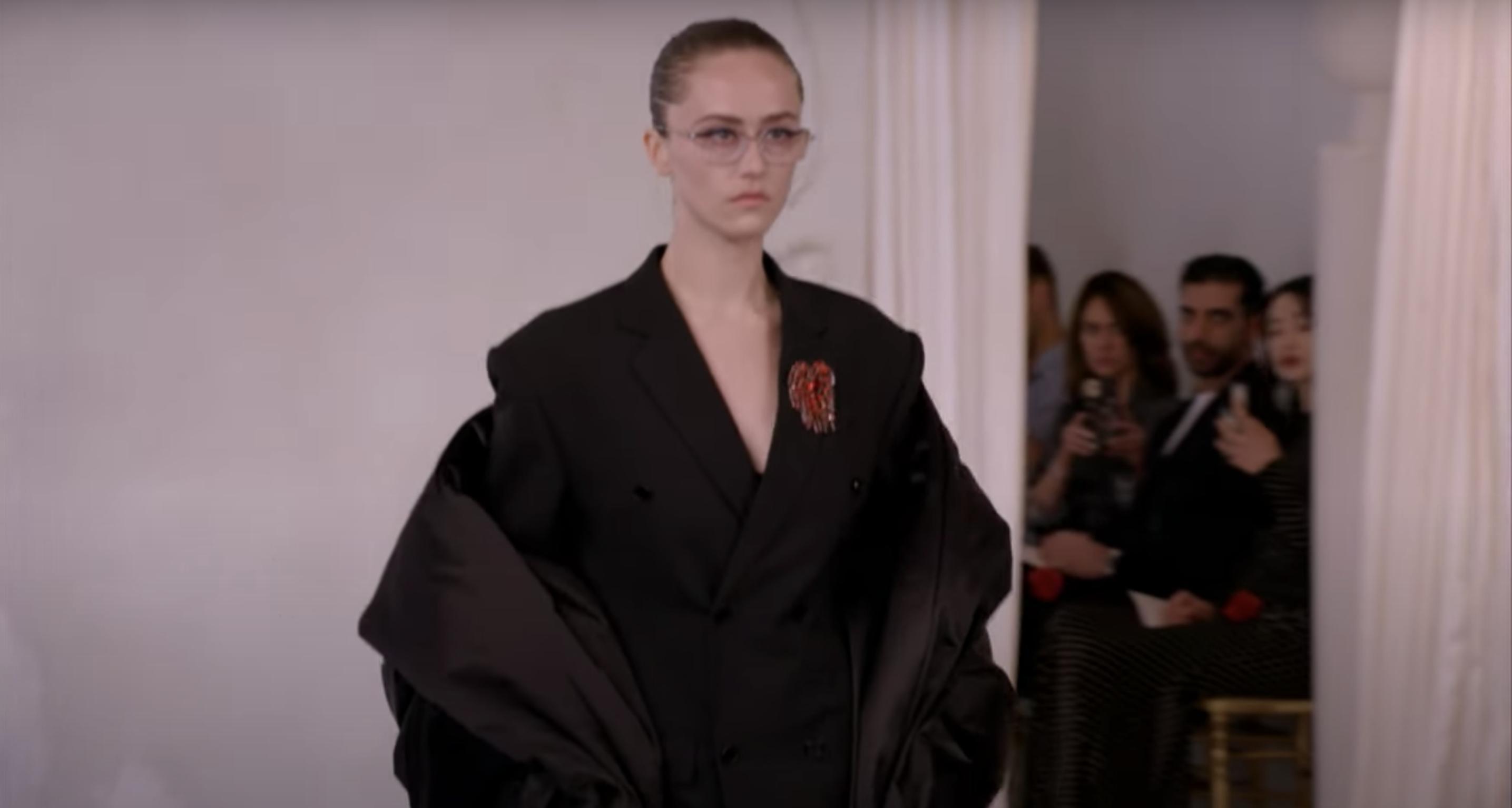 Ella Emhoff walks the runway at Balenciaga's 50th Couture Collection during 2021 Paris Fashion Week