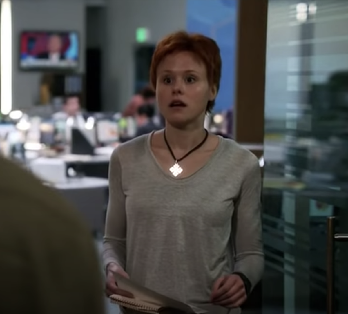 Alison Pill with a horrible pixie cut
