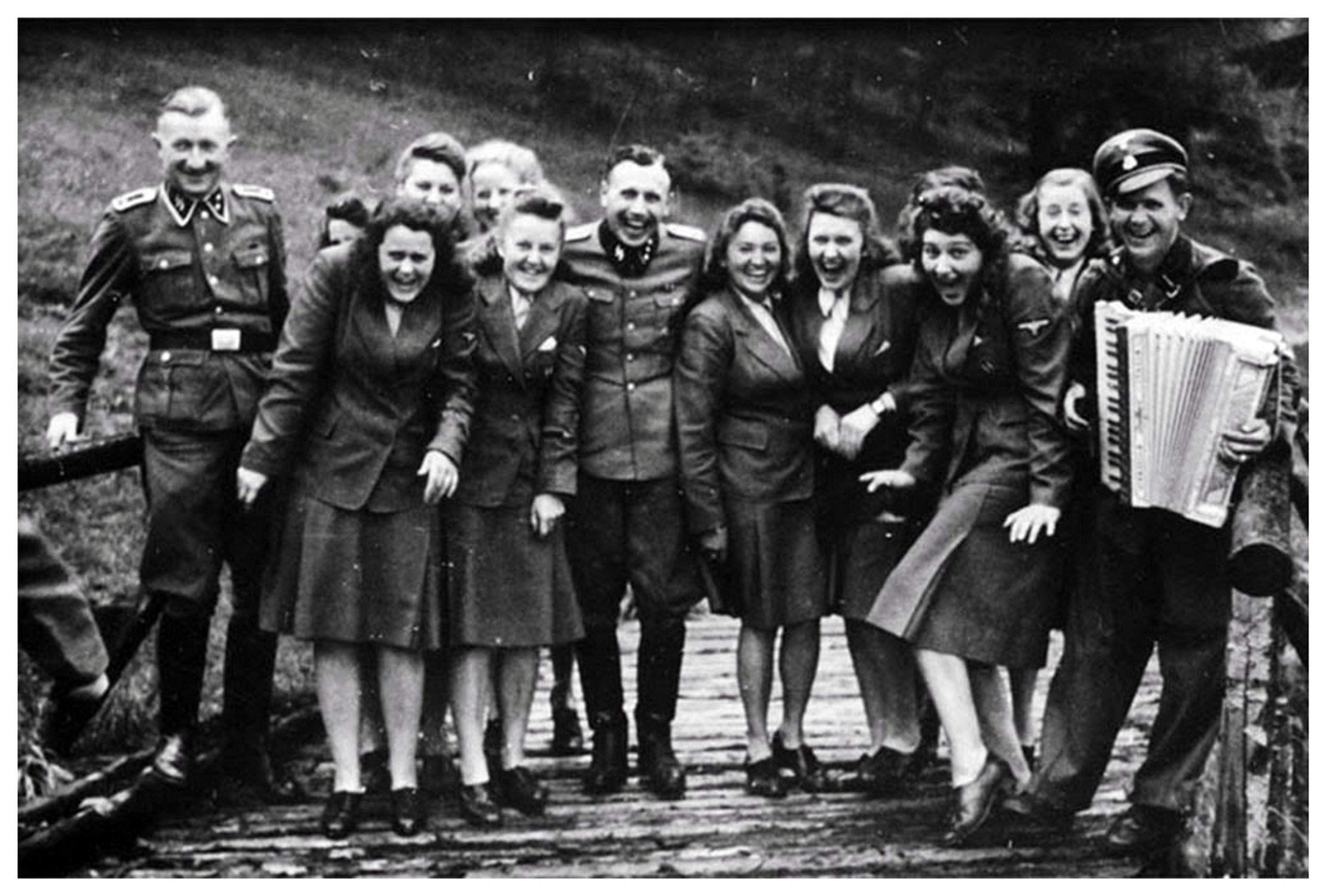 SS personnel posing for a photo