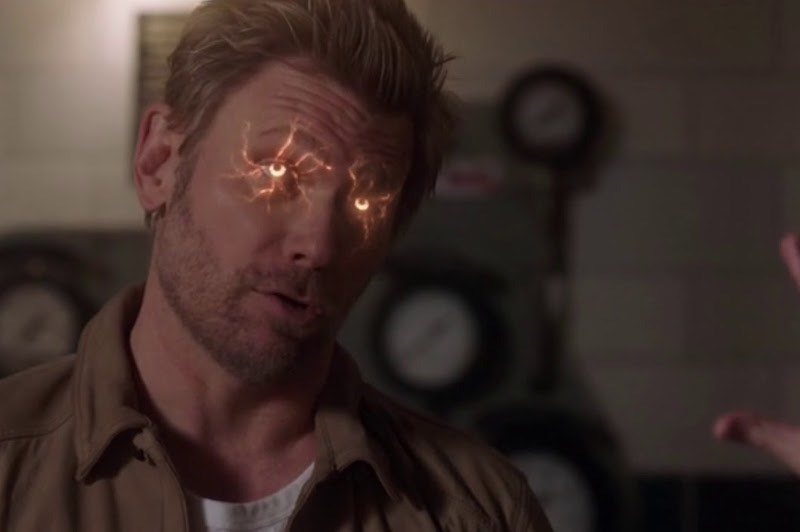Mark Pellegrino as Lucifer, his eyes glowing