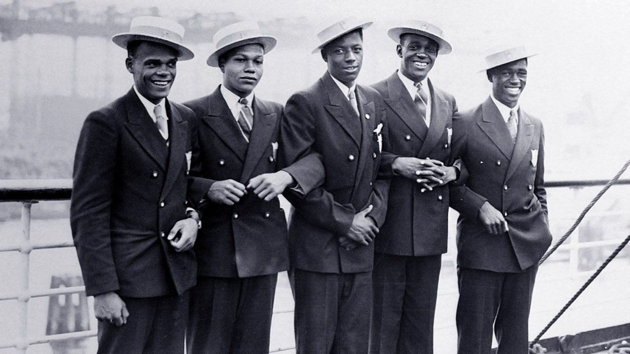 Five of the athletes from the 1936 Olympic Games