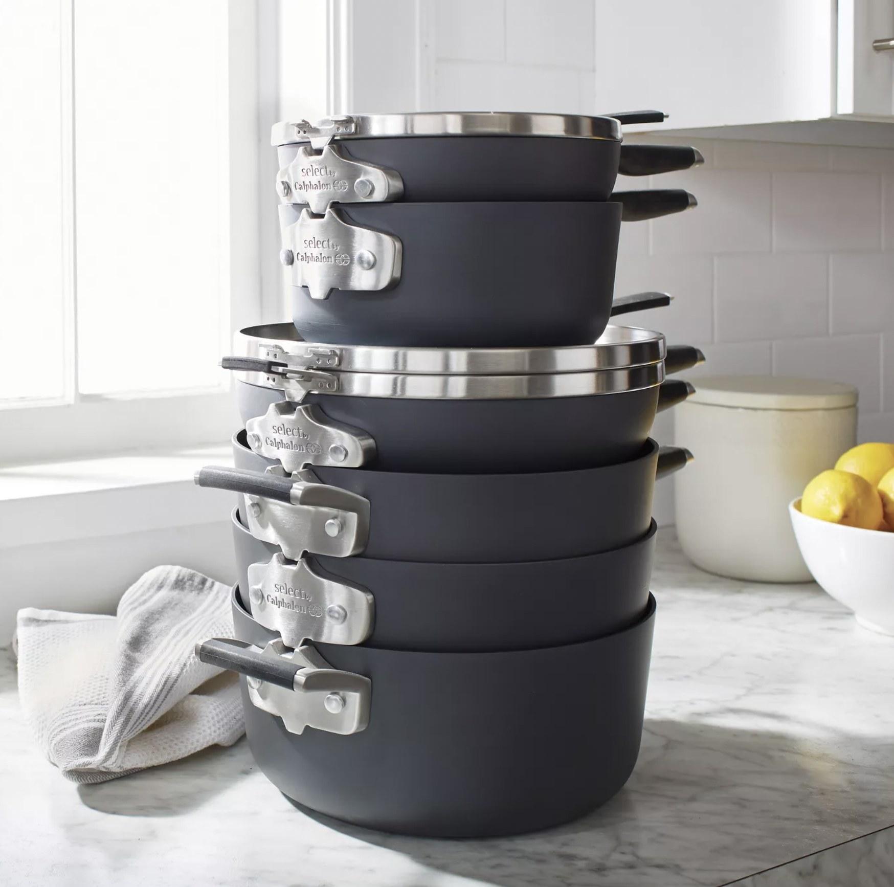 the stackable Calphalon pans