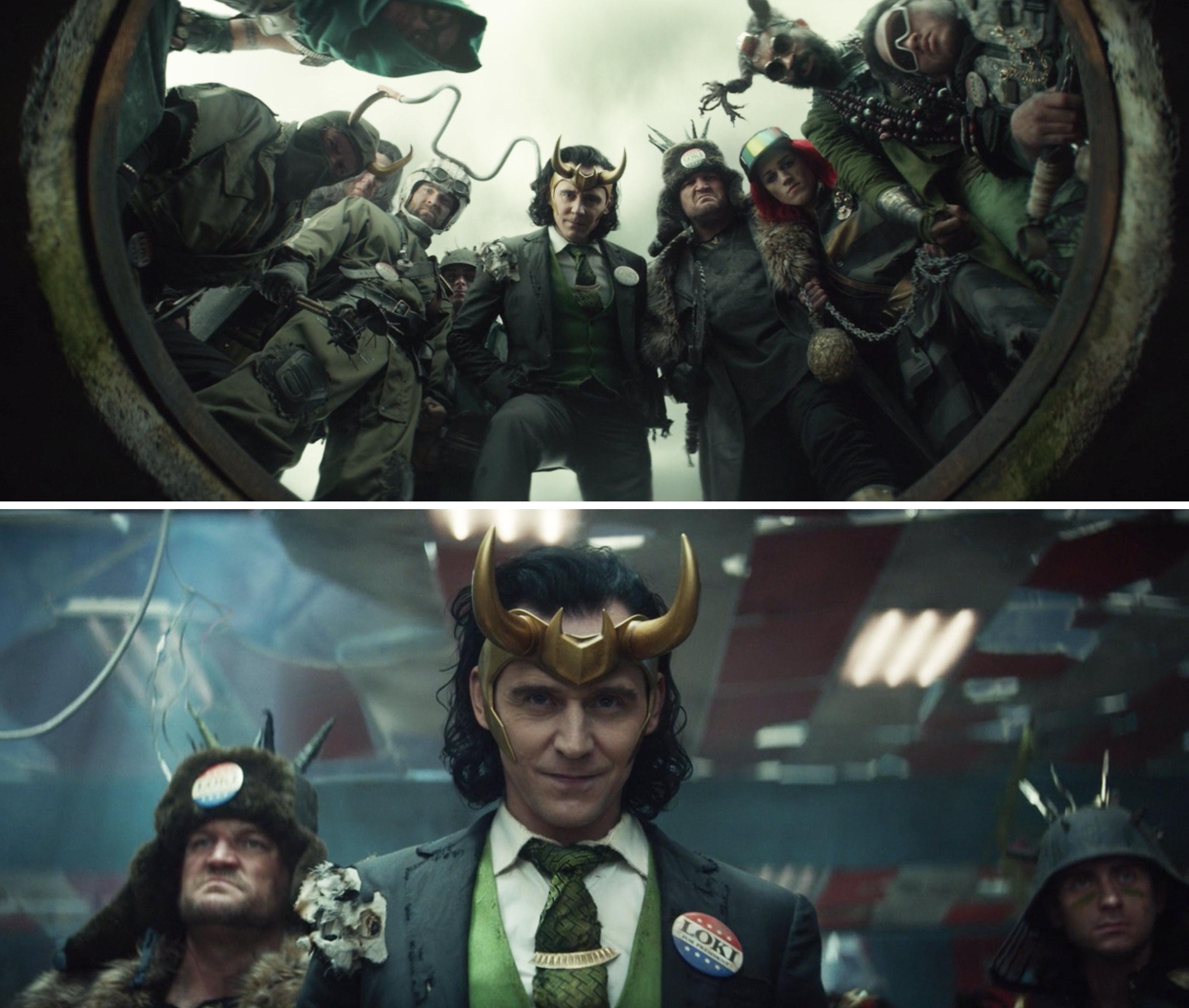 President Loki looking down at Loki