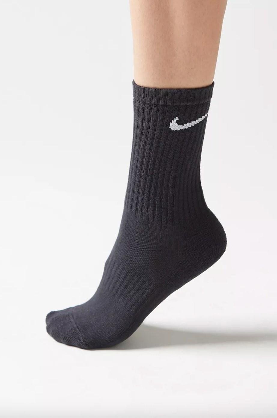 the Nike sock in black