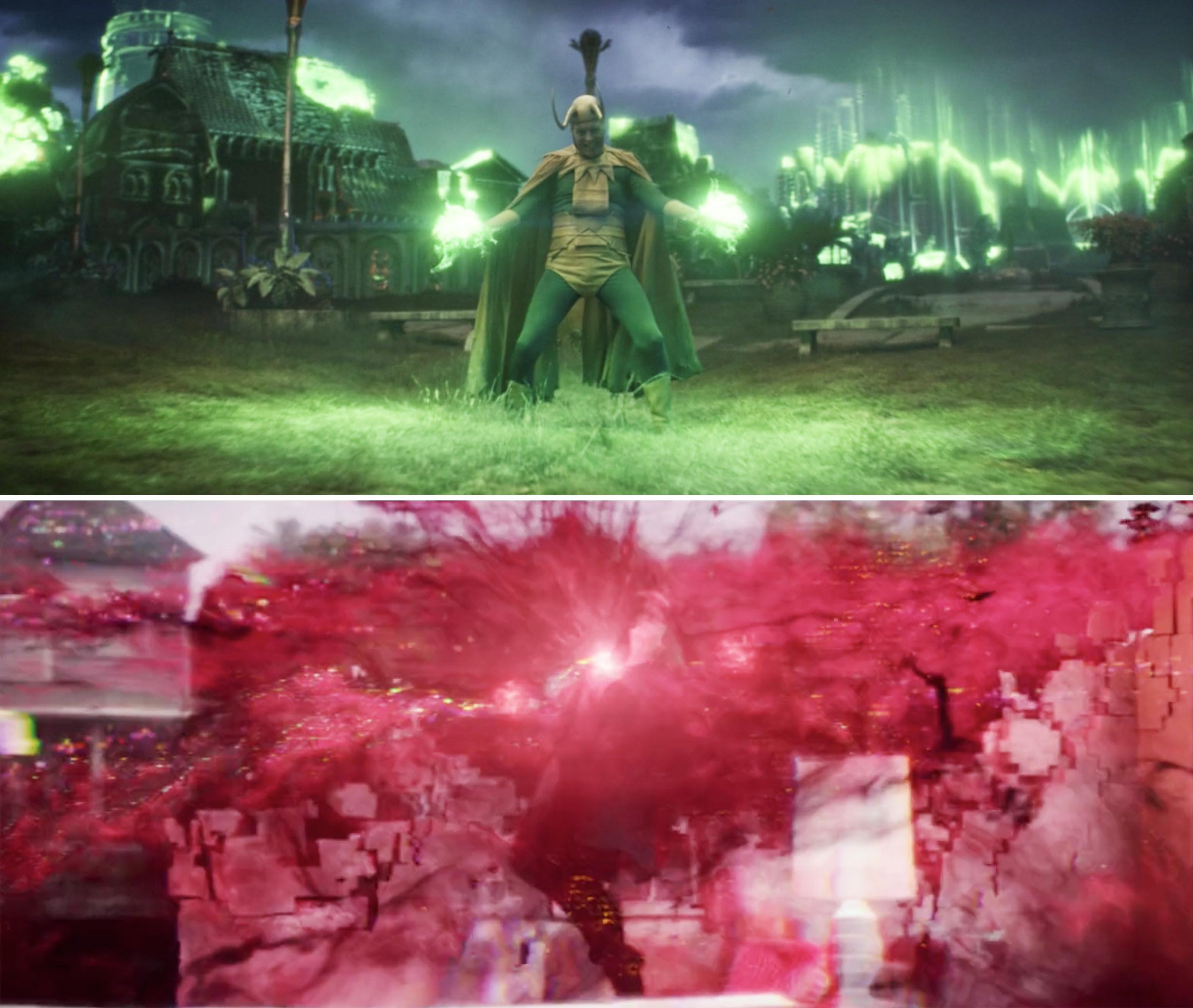 Classic Loki using his magic vs. Wanda Maximoff