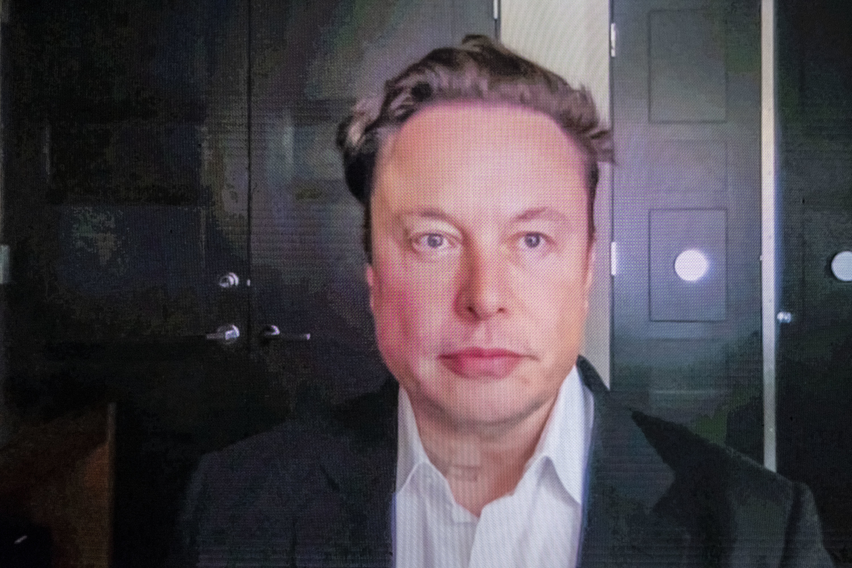 Elon looking serious
