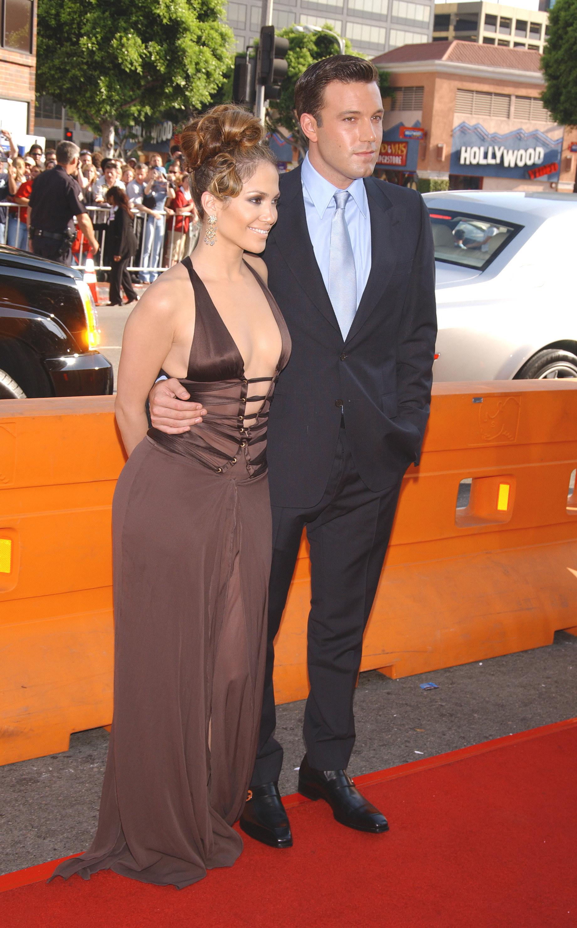 Jennifer Lopez and Ben Affleck at a movie premiere together