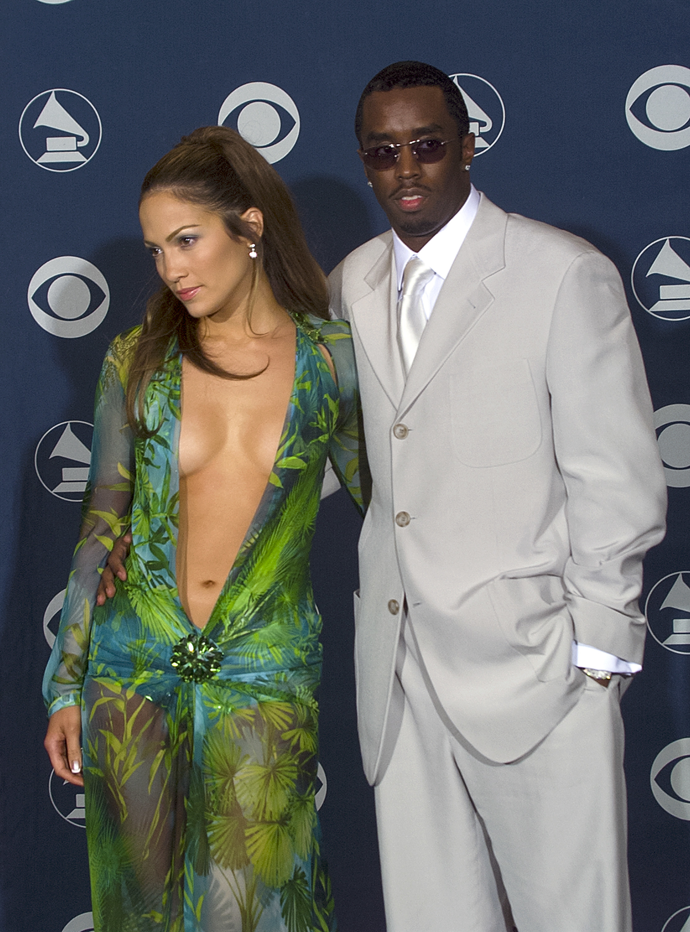 Jennifer Lopez and Puff Daddy at the Grammy Awards together