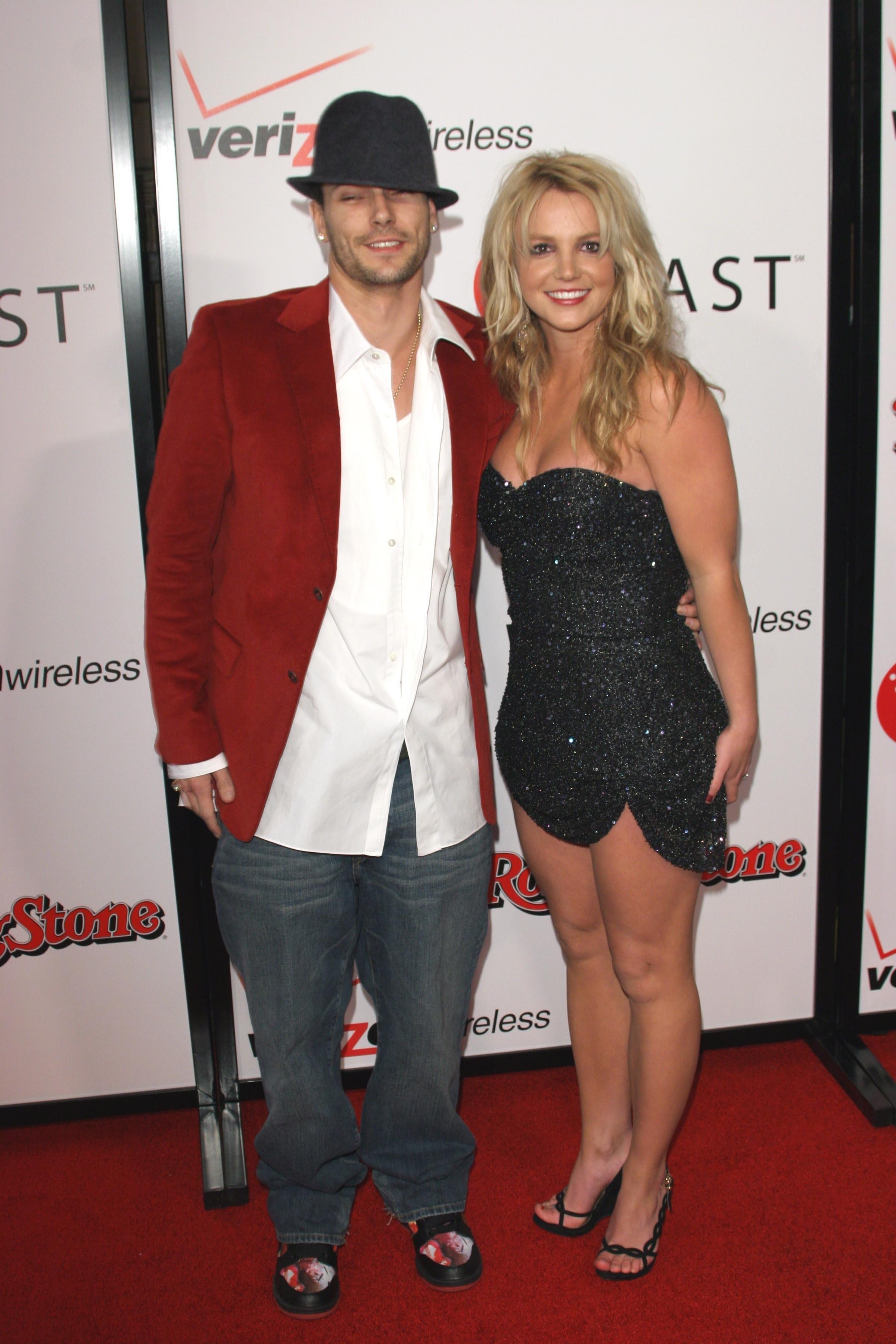 Kevin Federline and Britney Spears on the red carpet together