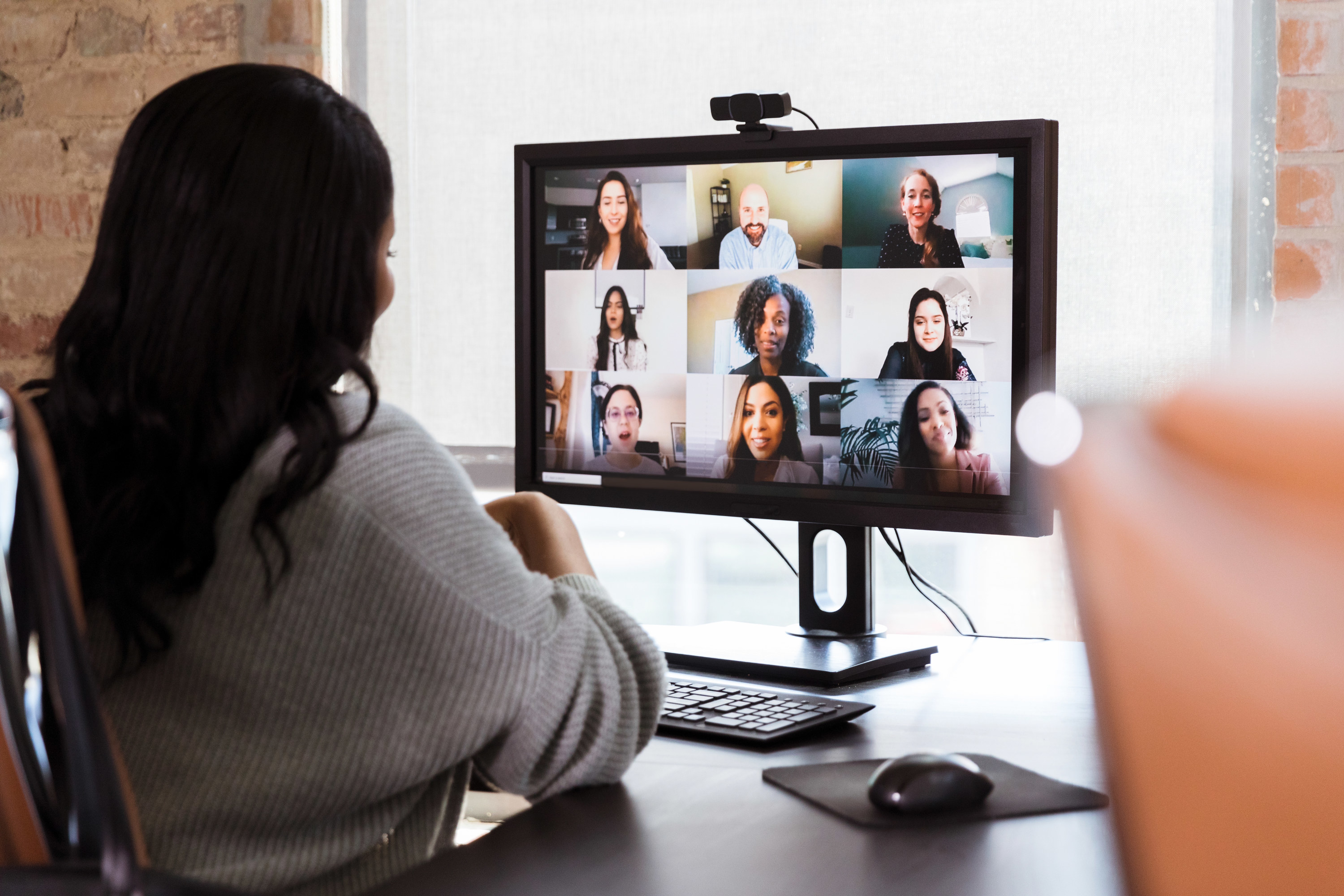 Women on a zoom call for work