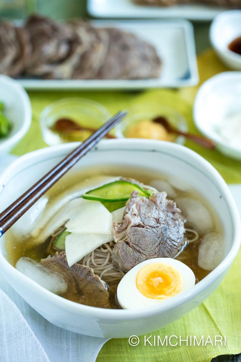 Mul Naengmyeon (Korean Cold Noodle Soup)