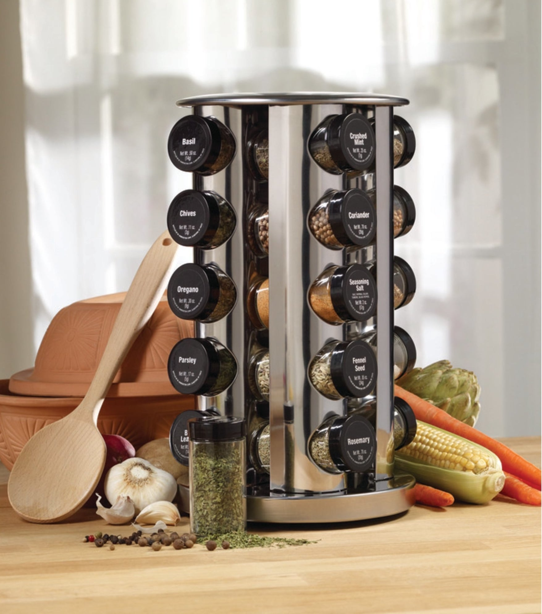 the spice jar rack