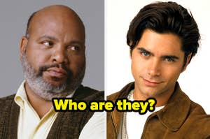 """Uncle Phil from Fresh Prince and Uncle Jesse from Full House with caption """"Who are they?"""""""