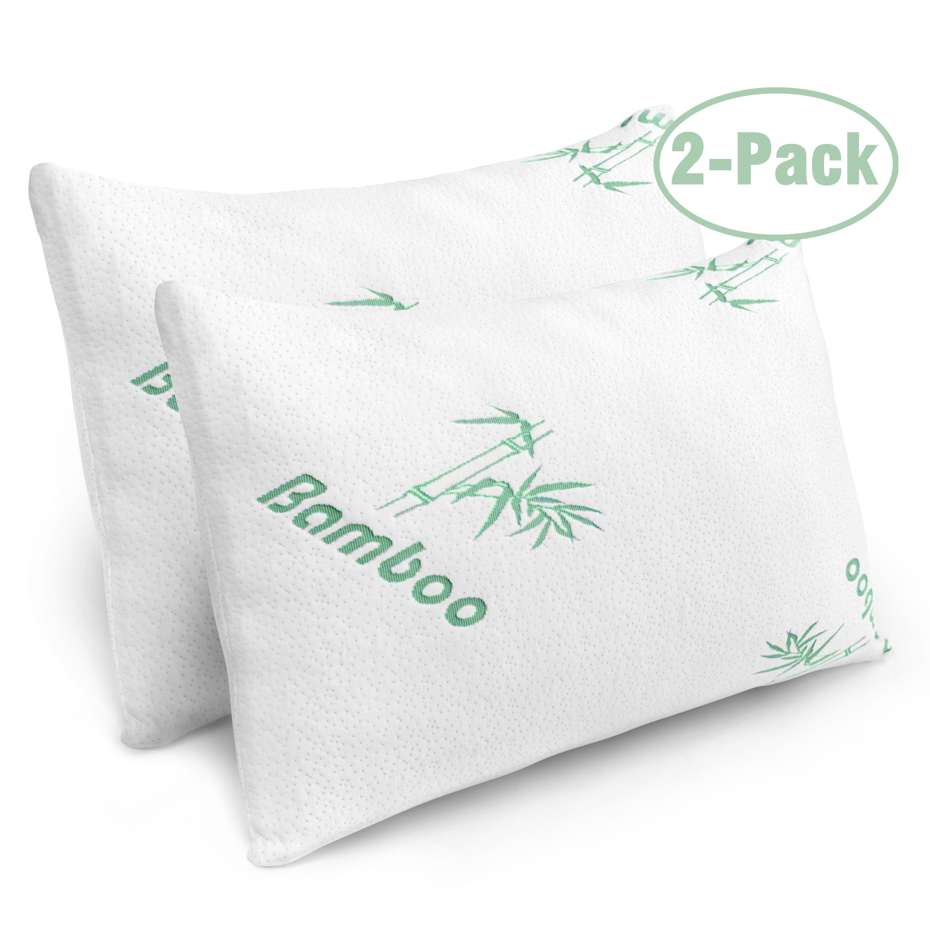 two bamboo pillows