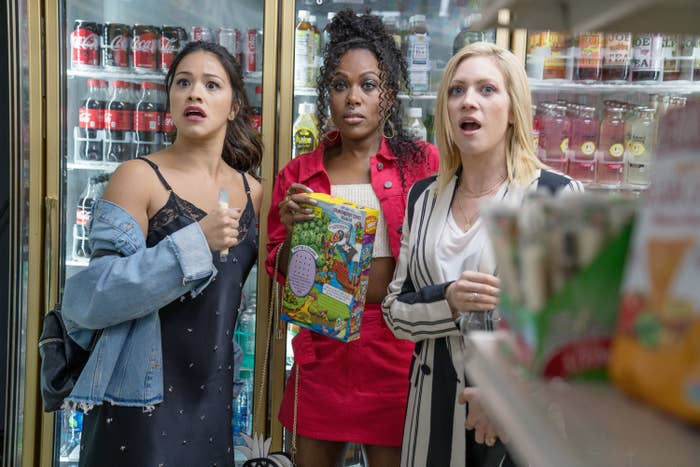 """Gina Rodriguez, DeWanda Wise, and Brittany Snow in """"Someone Great"""""""