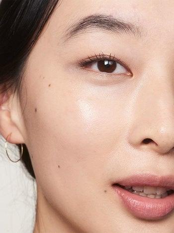 Asian model with beautiful glowing skin