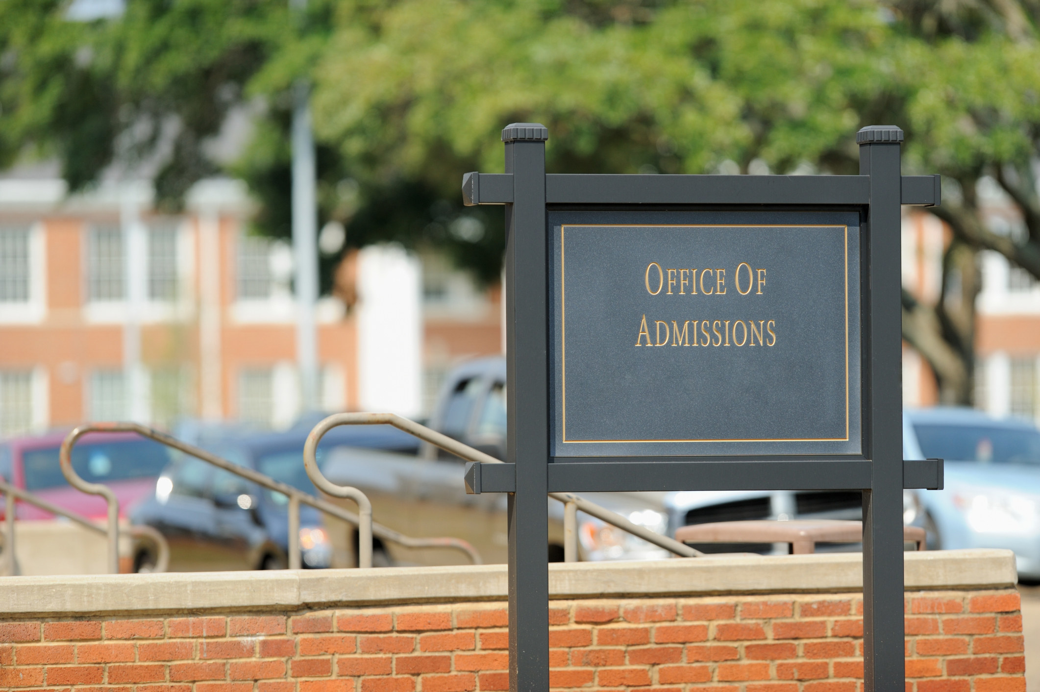 office of admissions sign