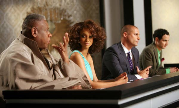 The judging panel of ANTM, with Tyra