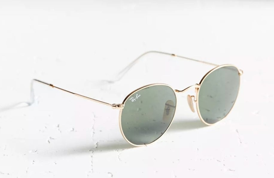 the Ray Ban sunglasses in gold metal