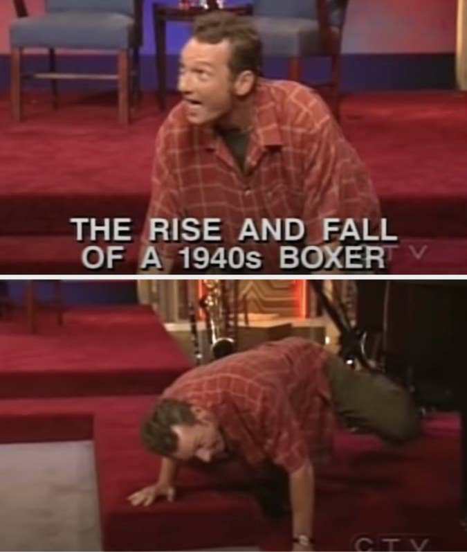 """Ryan's task is to be """"The rise and fall of a 1940s boxer,"""" and he's a dog and mimes peeing"""