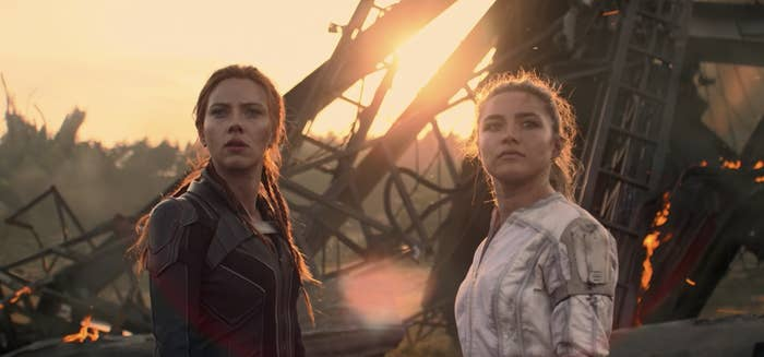 Scarlett Johansson and Florence Pugh as Nat and Yelena