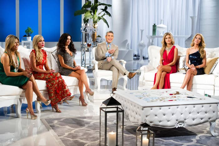 A Real Housewives reunion hosted by Andy Cohen
