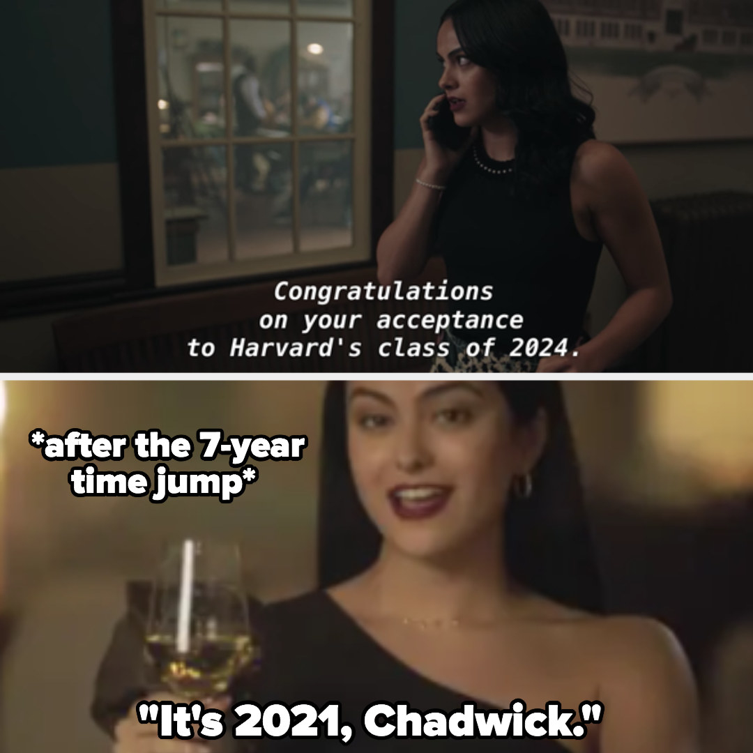 Veronica gets into Harvard class of 2024; she says it's 2021 after the 7-year time jump