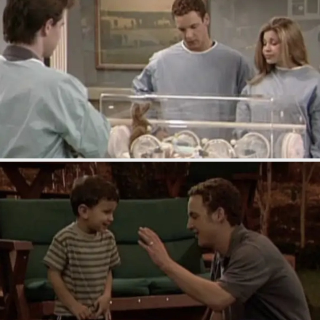 Josh is born episode; 4-year-old Josh in the finale