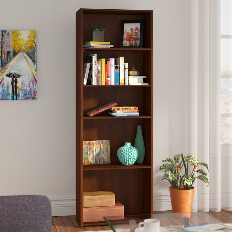 the Brook Cherry bookcase