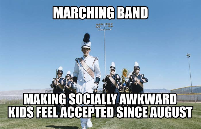 a marching band making socially awkward kids feel accepted