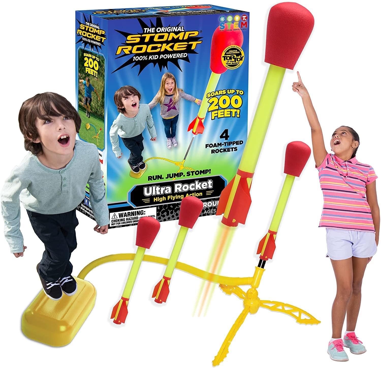 The stomp rocket launcher