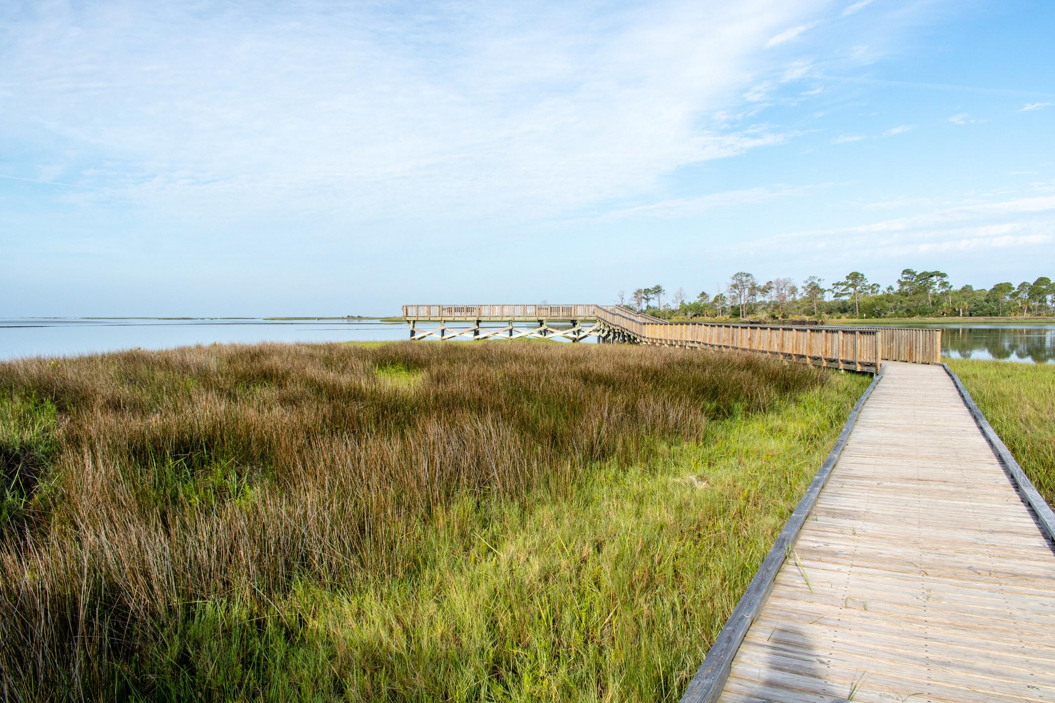 Photo of Cedar Key boardwalk and beach