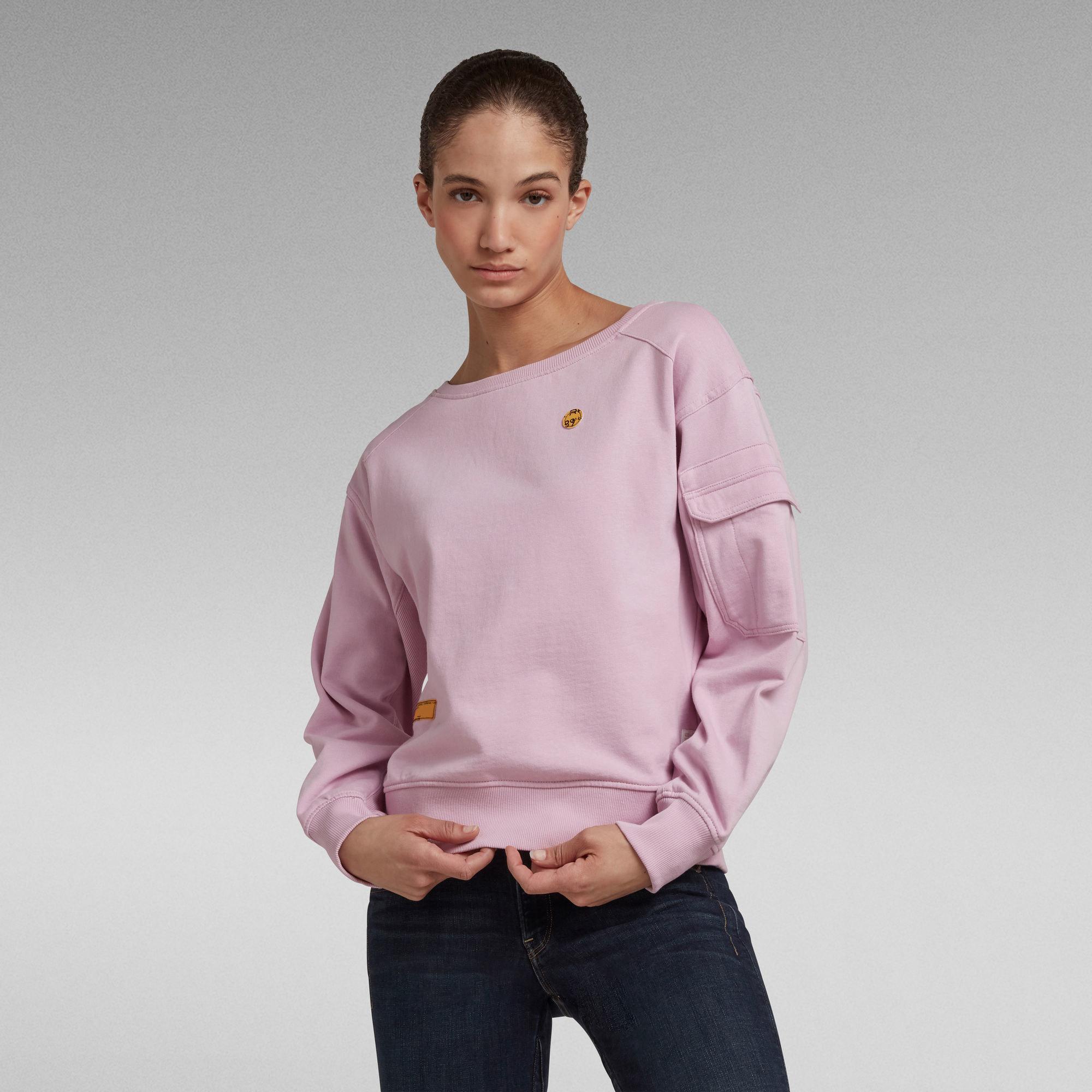 A model wears the sweater