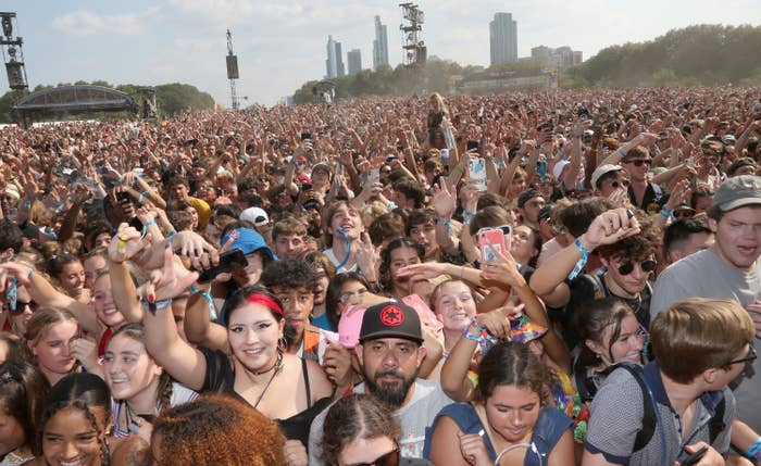 A crowd of people outdoors
