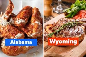 Wings and a ribeye steak