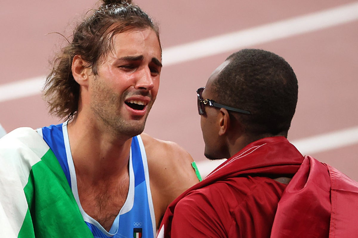The Moment These Two Olympians Decided To Share A Gold Medal Is So Joyful