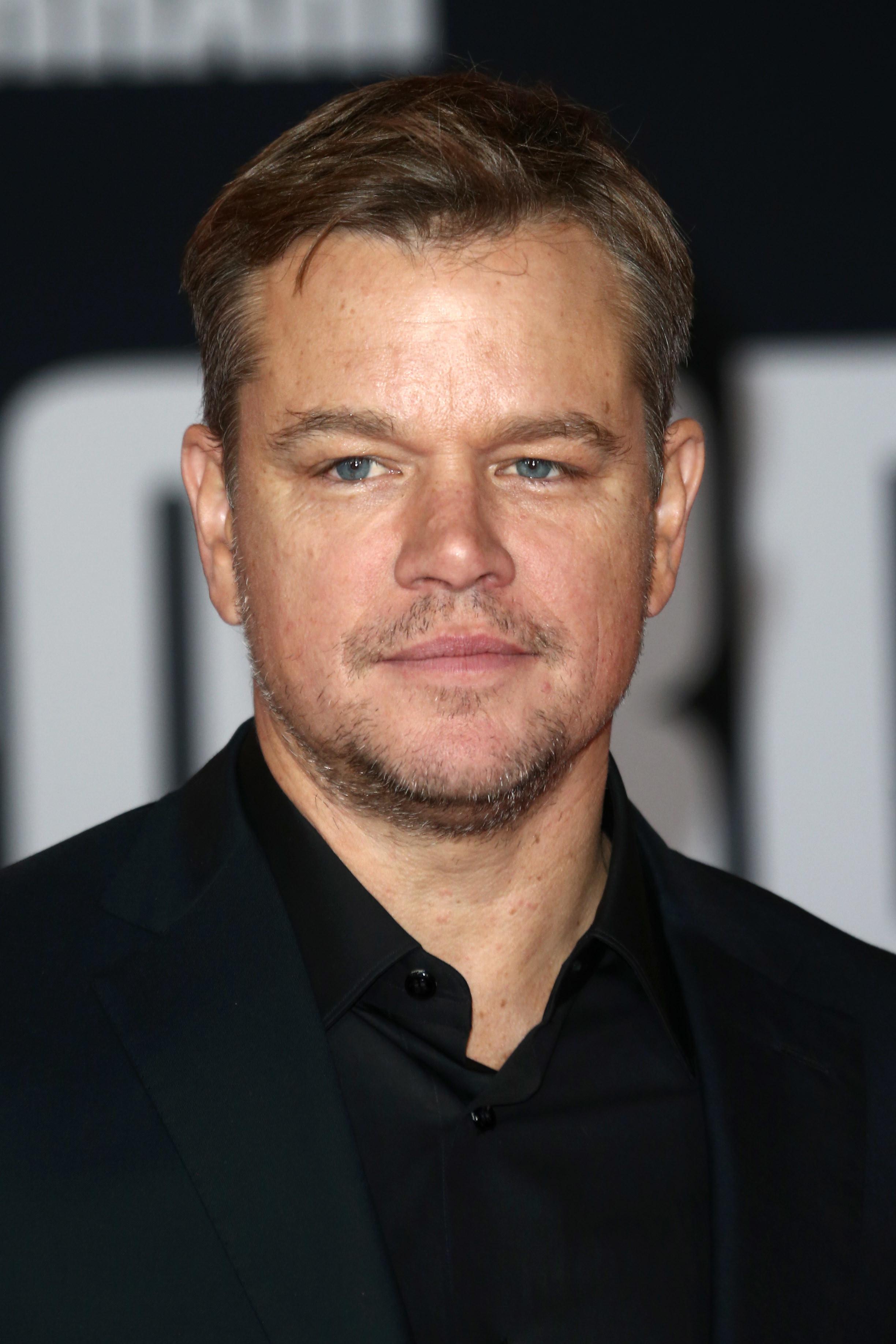 Damon at a movie premiere