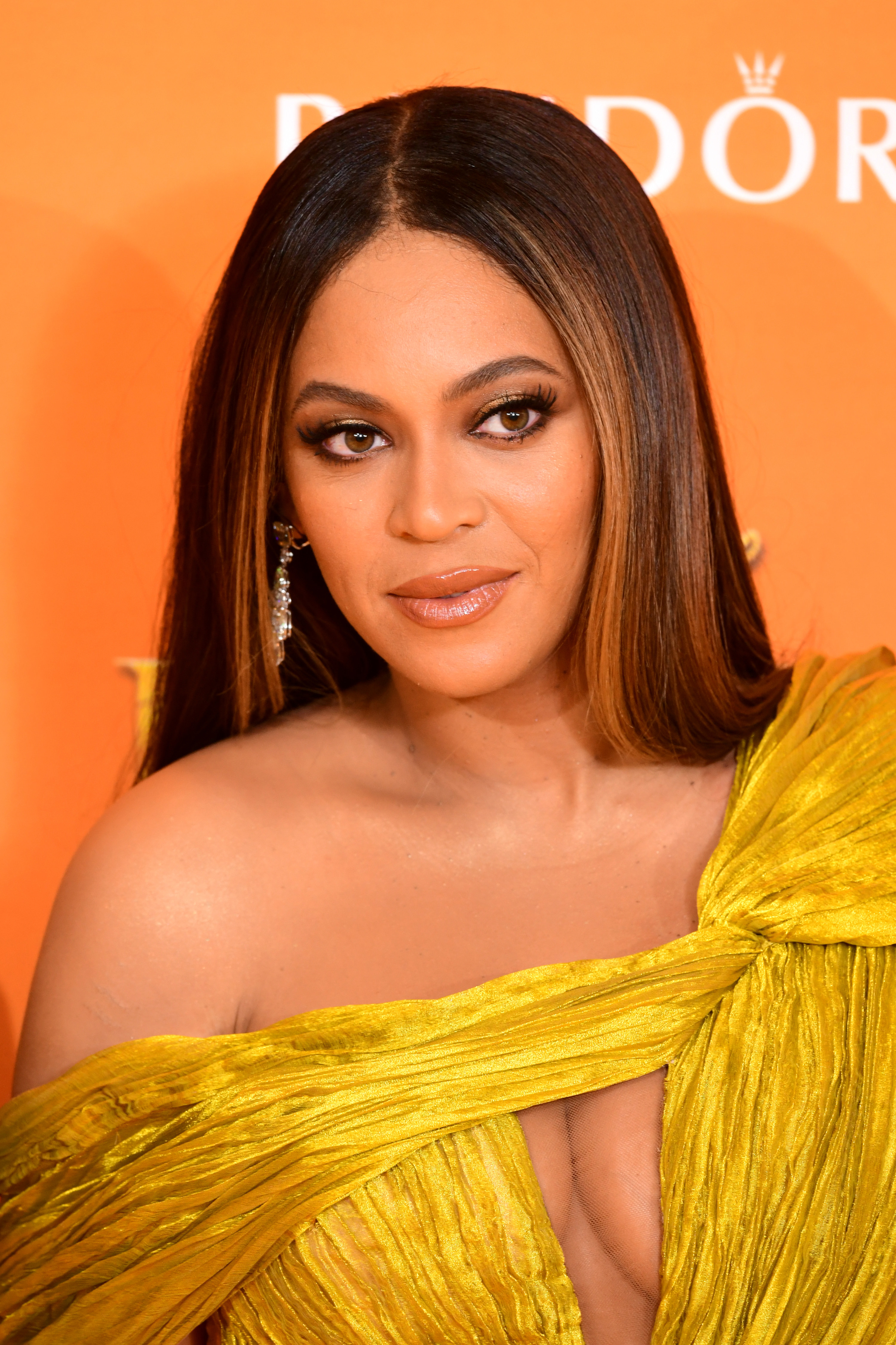 Beyoncé is photographed at the European premiere of Disney's The Lion King in 2019