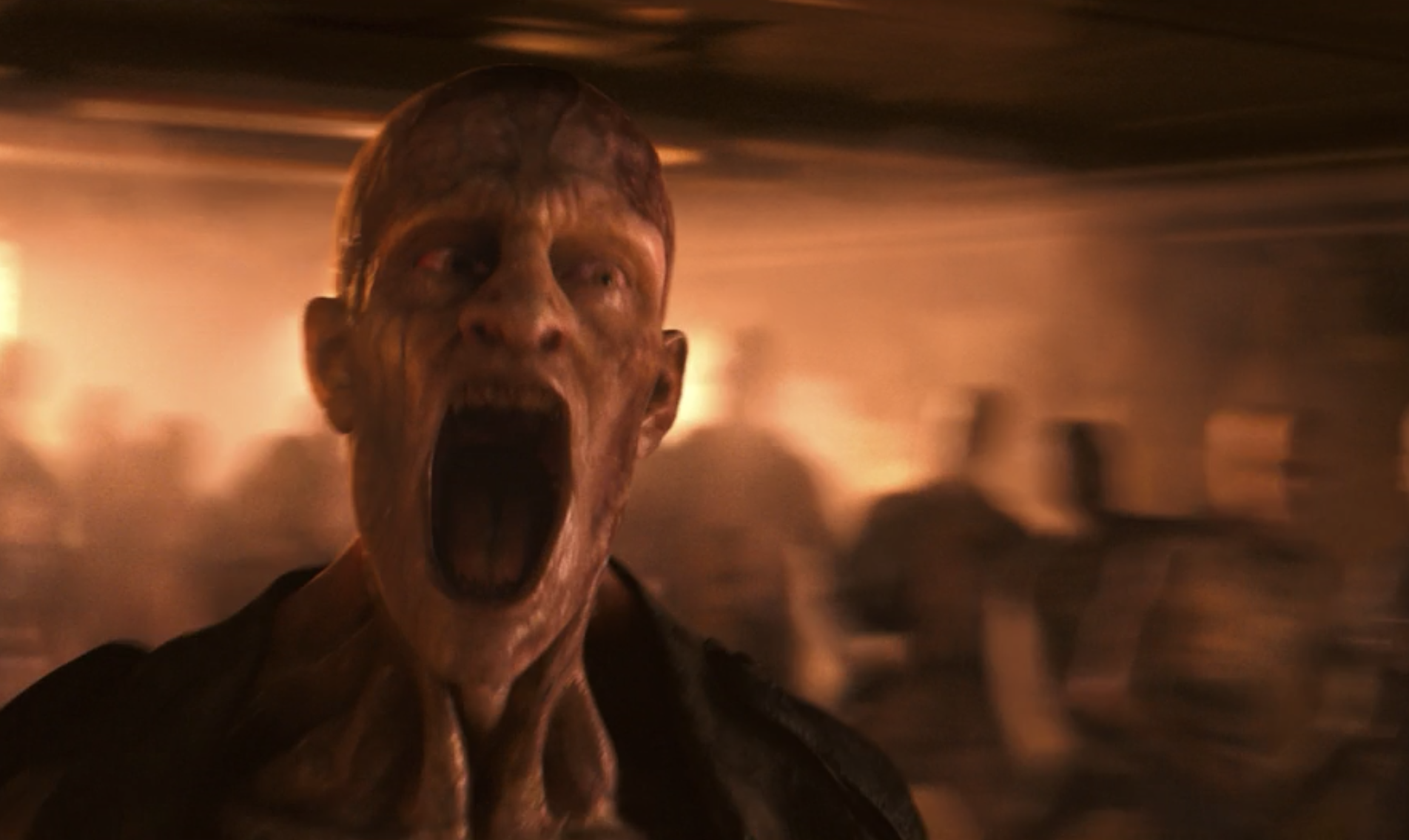A mutant screaming