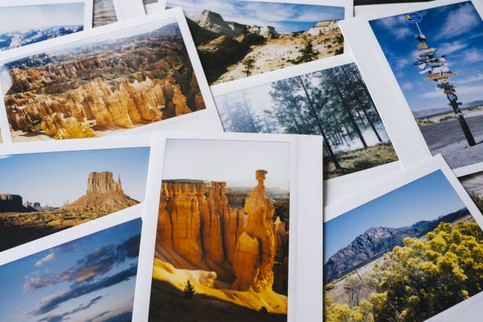 Polaroid snapshots of all the major American national parks.