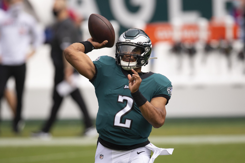 Eagles green uniforms and green helmet