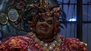 Mabel King as Evillene the Wicked Witch of the West in the musical film The Wiz.