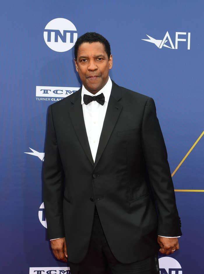Denzel in a tuxedo