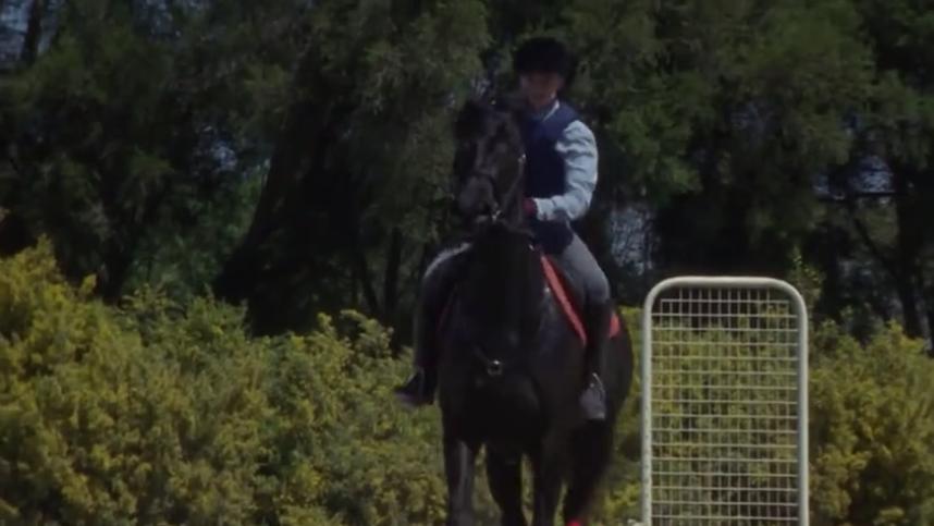 Veronica riding Cobalt