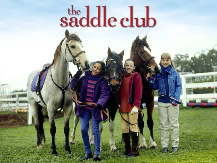 Lisa, Stevie and Carole smiling with their horses