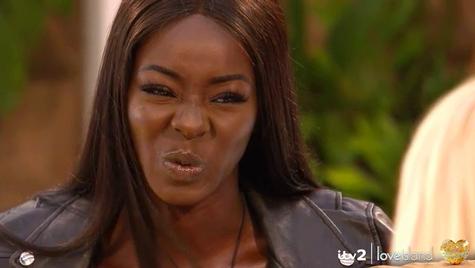 "Priscilla from ""Love Island UK"" season 6 cringing"